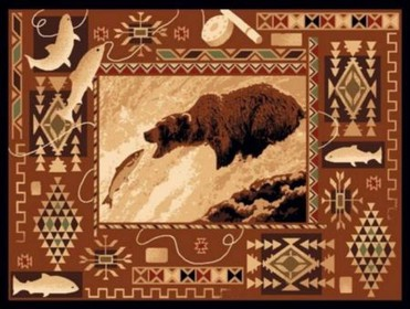 Fishing Grizzly Lodge Rug
