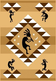 Kokopelli Area Rug