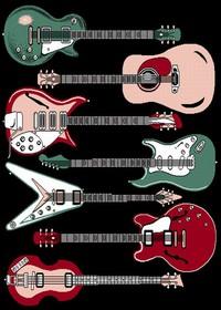 Guitar Area Rug