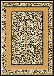 Cheetah Skin Border Area Rug