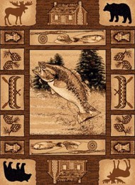 Leaping Salmon Lodge Rug