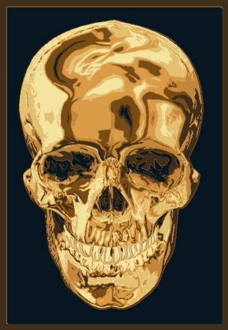 Metallica Skull Contemporary Area Rug