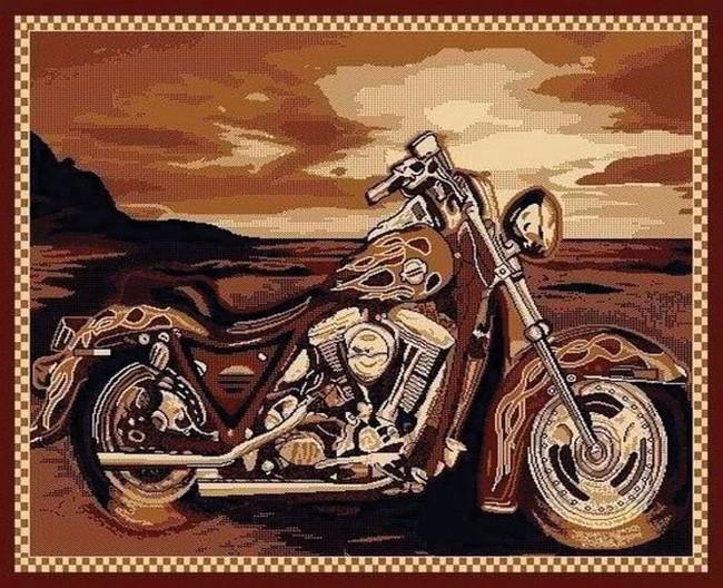 Motorcycle Rug Harley Davidson Rug Biker Rug