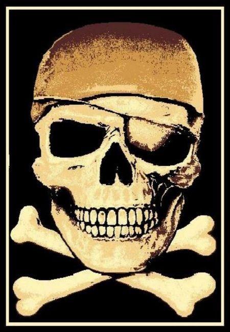 Pirate Skull With Cross Bones Rug Skull Rug Pirate Rug