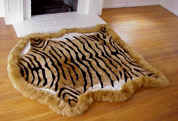 Tiger Print Rugs In A Luxurious Sheepskin Rug