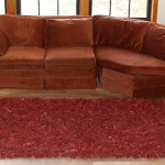 Leather-Shag-Area-Rug-Red