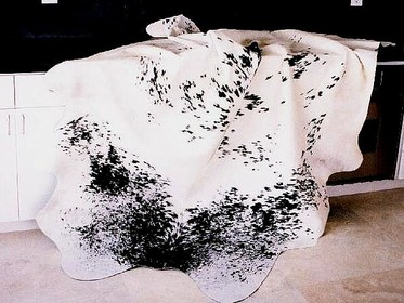Black-White Salt-Pepper Cowhide Rug