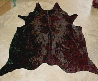 Brown Cowhide Leather Rug
