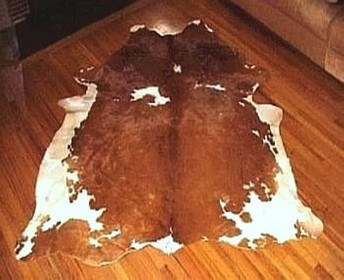 Brown Hereford Cowhide Rug