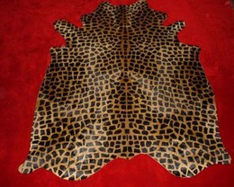 Giraffe Cowhide Standard Brown on Caramel