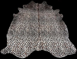Leopard Cowhide on Off-White