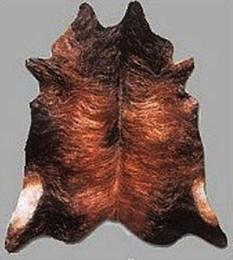 dark brindle cow hide rug