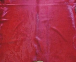 Red Cow Hide Leather Rug
