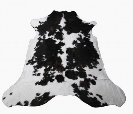 Natural Black And White 50 50 Spotted Cowhide Rug