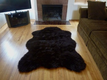 super plush faux brown bear rug