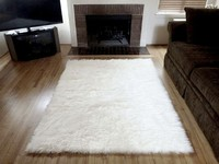 faux fur area rugs