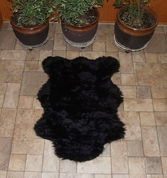 Faux American Black Bear Rug
