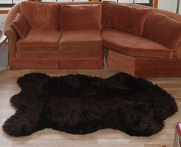 Faux Russian Brown Bear Rug