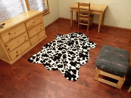 Faux Cowhide Black-White