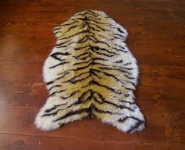 Plush Faux Savannah Tiger Skin