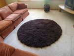 1.4 Kilo Brown New Flokati Rug