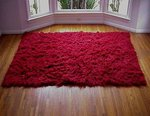 1.4 Kilo Red New Flokati Rug