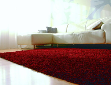 Cotton Shag Rug Crimson