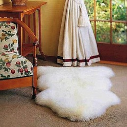 Bowron Single Pelt Sheep Skin Rug
