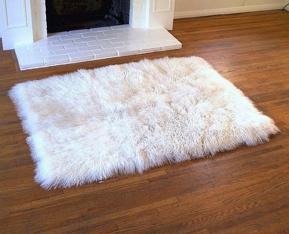 - White Fur Rug White Fur Rugs Tibetan Lambswool