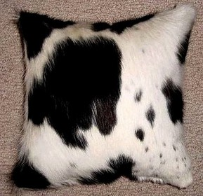 Black-White Cowhide Pillows