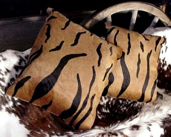 Tiger Cowhide Pillow Bengal