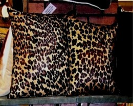 Leopard Print Cowhide Pillow