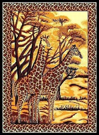 Safari Giraffes Area Rug