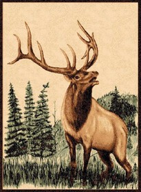 Bull Elk Lodge Rug