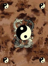 Yin Yang Dragon Area Rug
