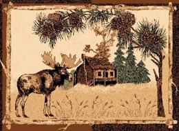 Bull Moose Cabin Lodge Rug