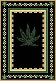 Pot-Hemp Border Area Rug