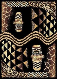 African Drums Area Rug