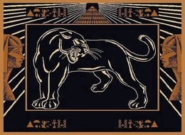 Egyptian Panther Area Rug