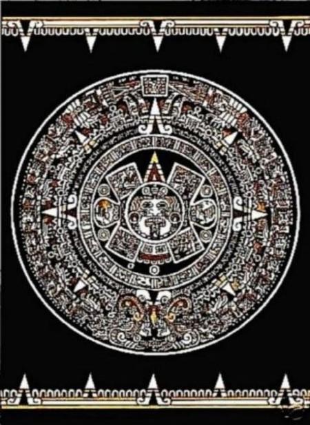 Aztec Calendar Area Rug Aztec Calendar Astrology Rug