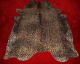 Leopard Cowhide on Caramel