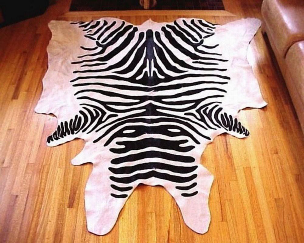 Black And White Zebra Print Cowhide Rugs
