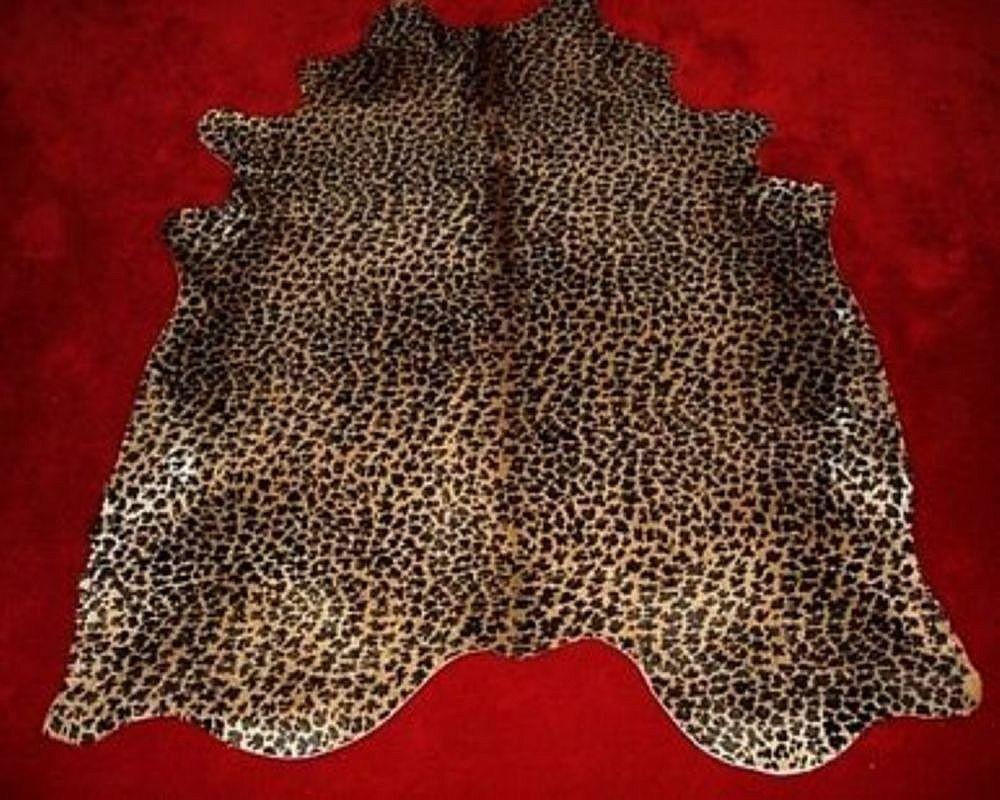 Leopard Cowhide Rug Standard Leopard Print Cowhide Rug On