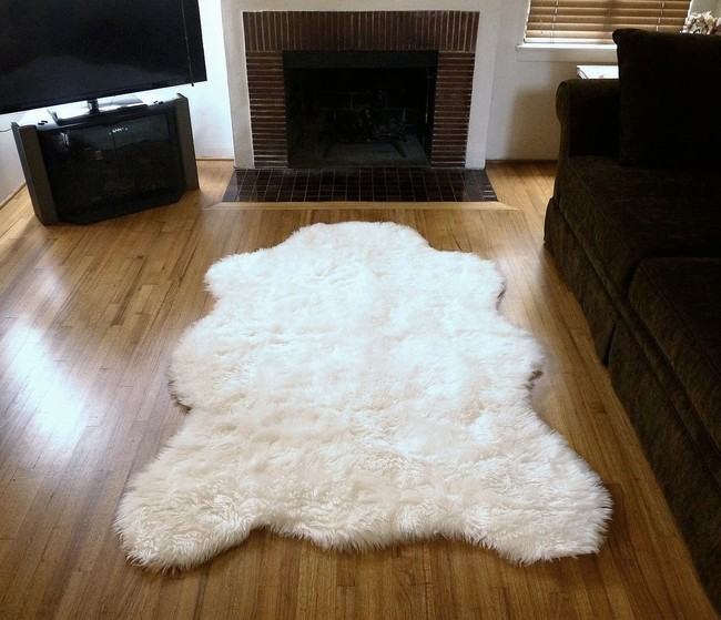 Super Plush Faux Fur Polar Bear Rug From France