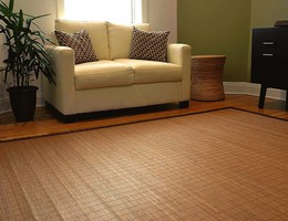 Villager Collection Natural Bamboo Rugs