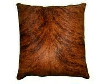 Medium Brindle-White Cowhide Pillows