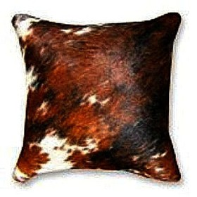 Tricolor Cow hide Pillows