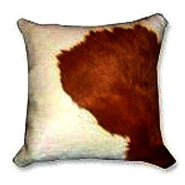 Brown-White Cowhide Pillows